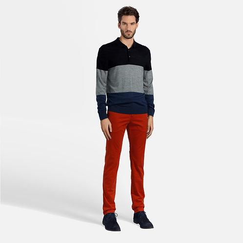 Bi-color sweater