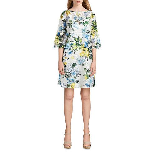 Allison Brittney Women's 3/4 Bell Sleeve Lace Dress