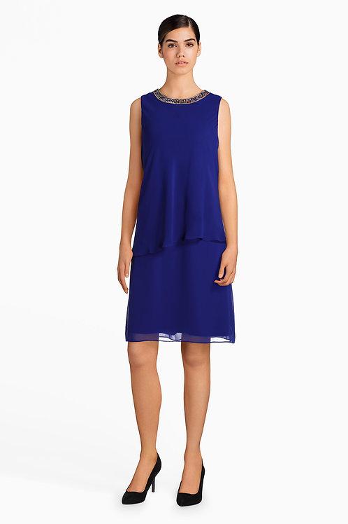 Mettalic blue dress