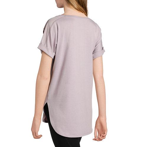 Women's Active Short Sleeve Crewneck T-Shirt With Mesh Insert