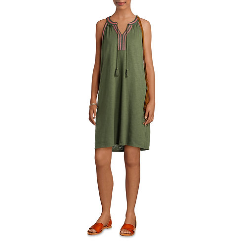 Women's Knit Dress with Embroidery