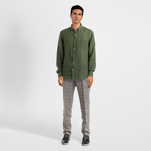 Army Green Linen Shirt