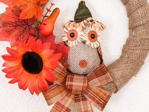 Easy DIY Fall Owl Wreath