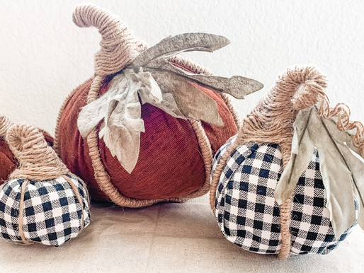 DIY No Sew Mini Fabric Pumpkins