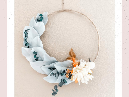 Farmhouse Fall Minimalist Wreath DIY
