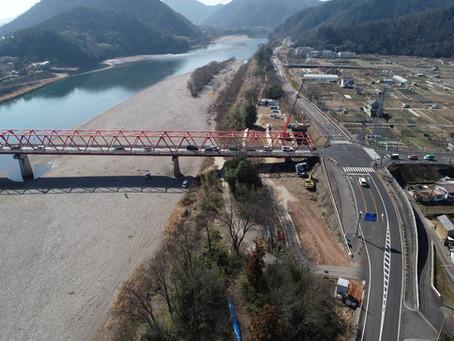 新藍川橋工事順調に進んでいます