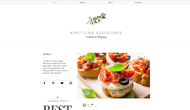 Lifestyle website templates – Rezeptblog