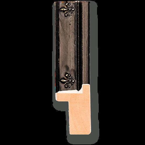 """1"""" Antique Black Cap with Fleur de Lis Panel: C-7023"""