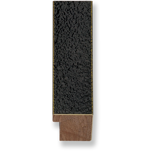 "1 1/4"" Glossy Black Texture: K-754"