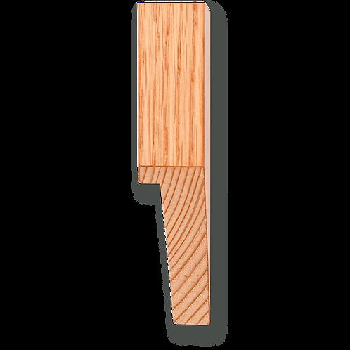 """3/4"""" x 2"""" Natural Oak Veneer: TA-413"""