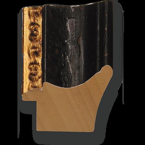"""2 1/4"""" Antique Black Scoop - Gold Lip: 515/31"""