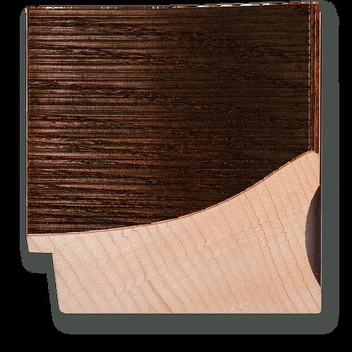 """4"""" Walnut Veneer Scoop: TA-506"""