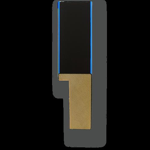 """1"""" Metallic Blue Pinstripe: K-768"""