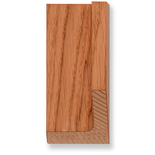 """3/8"""" x 1 1/8"""" Natural Oak Veneer Floater: TA-415"""