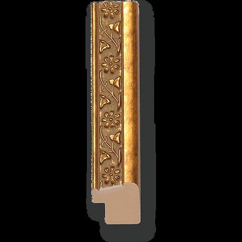 """1"""" Antique Gold Floral: TS-652"""