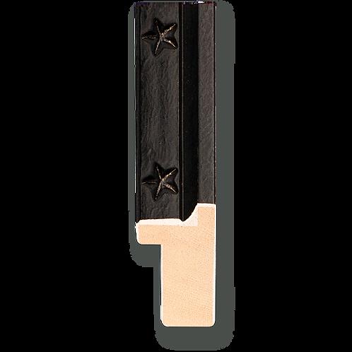 """7/8"""" Antique Black Cap with Star Lip: C-7021"""