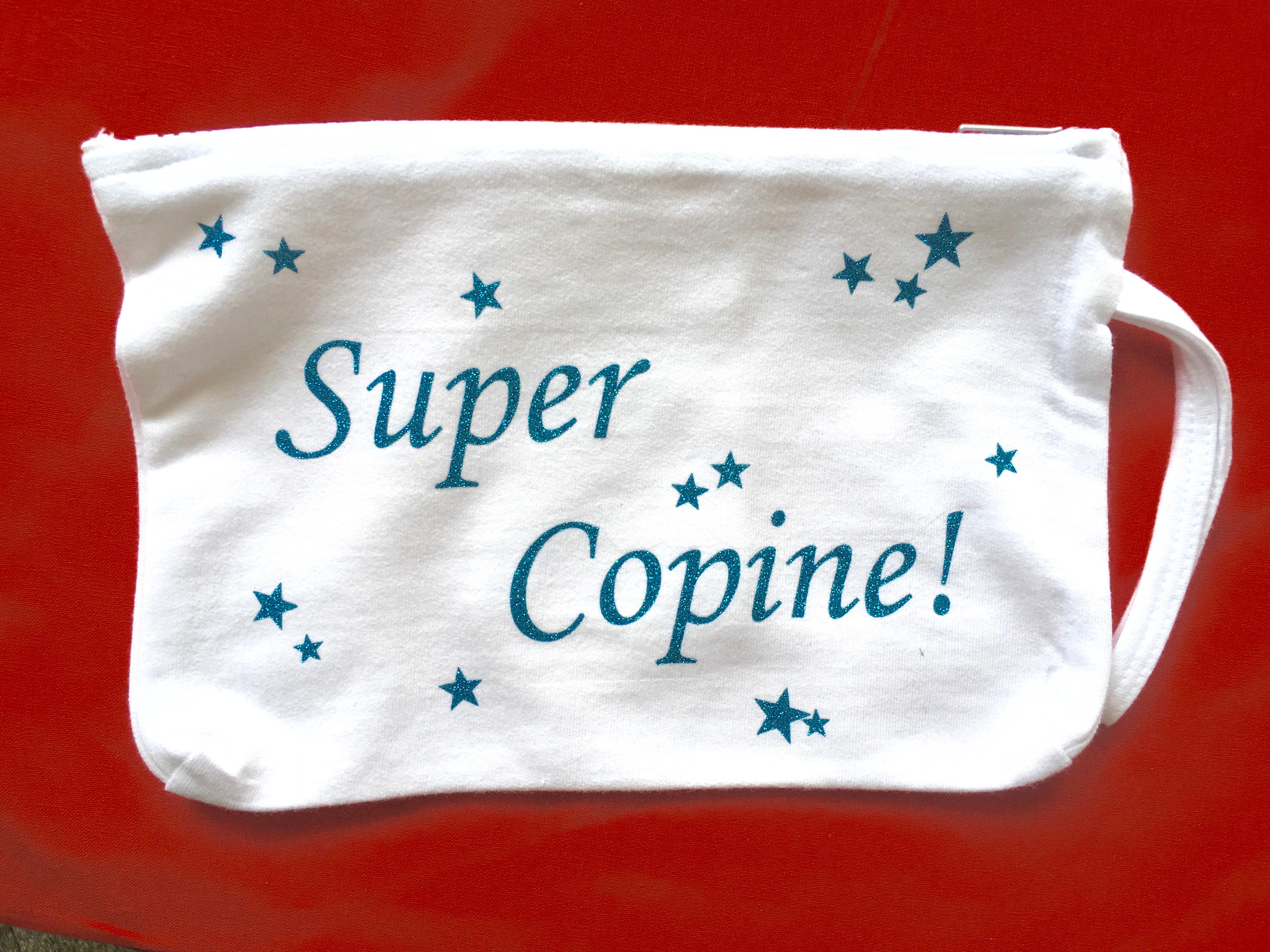 Trousse coton personnalisée - super copine