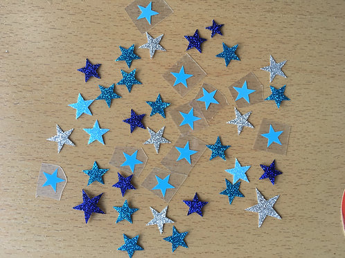 Lot 40 étoiles thermocollantes pour textiles-