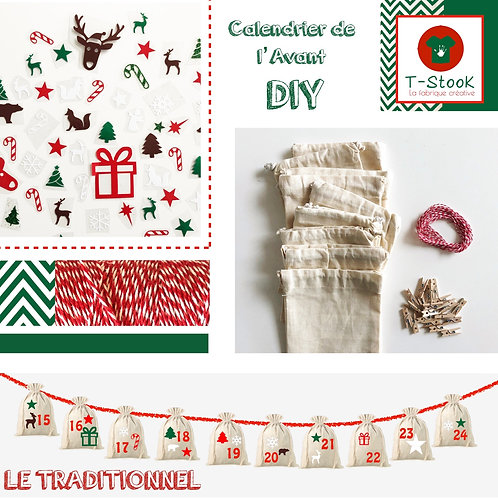 Kit DIY Calendrier de l'Avant - Traditionnel-