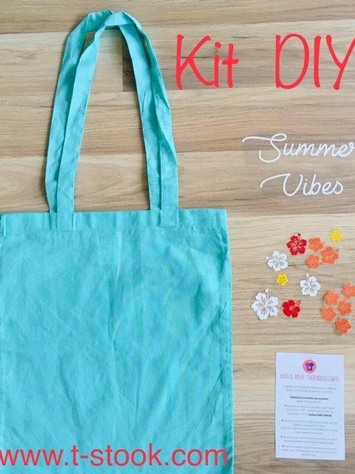 """Kit DIY Tote-bag """"Summer Vibes Flowers"""""""
