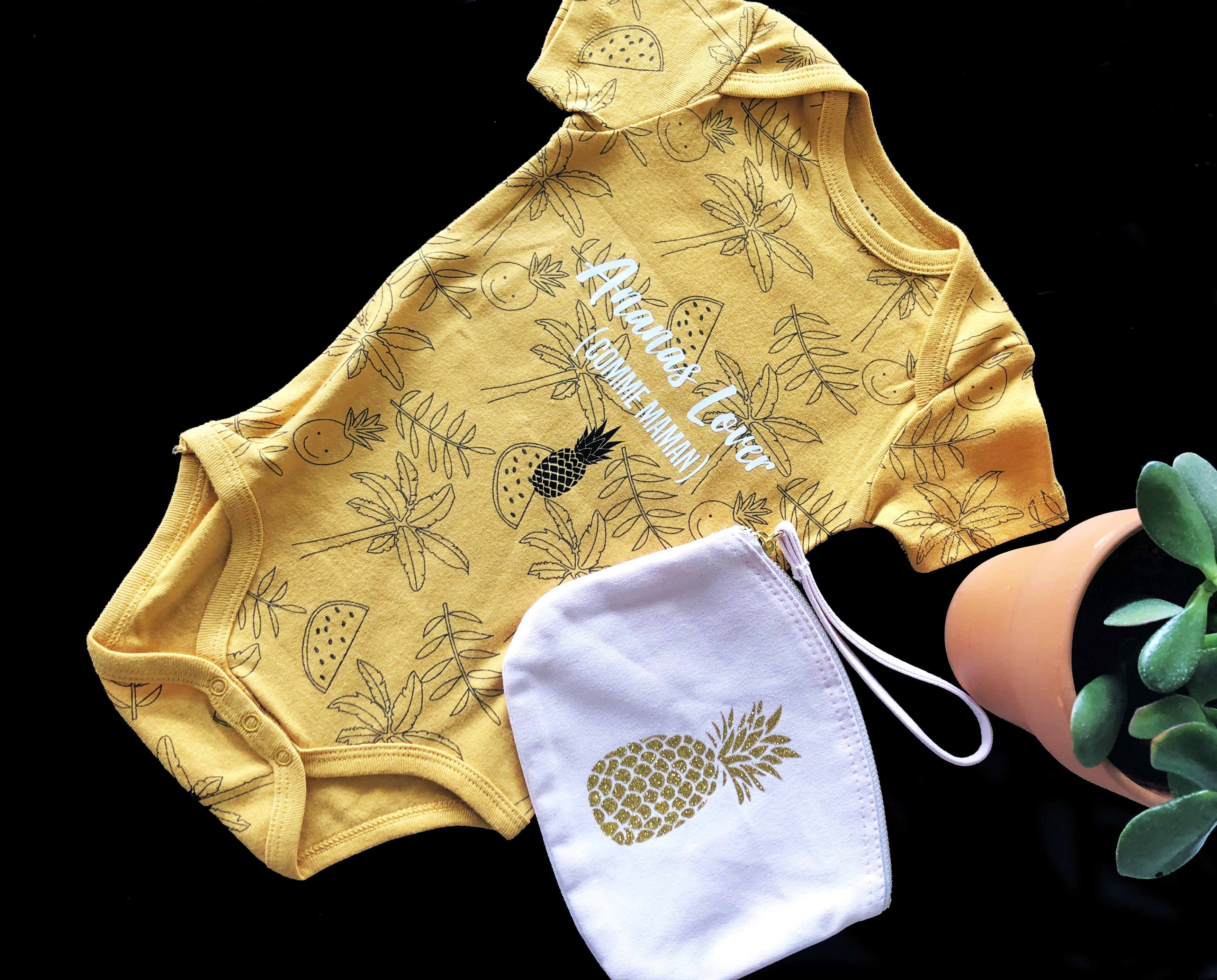 Cadeau naissance- body bébé personnalisé- Body pour une f'ananas !