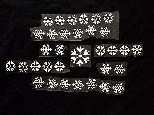 33 Flocons thermocollants en flex blanc pour tissus