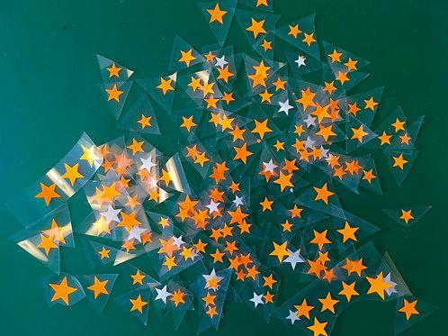 Lot 50 étoiles thermocollantes pour textiles-