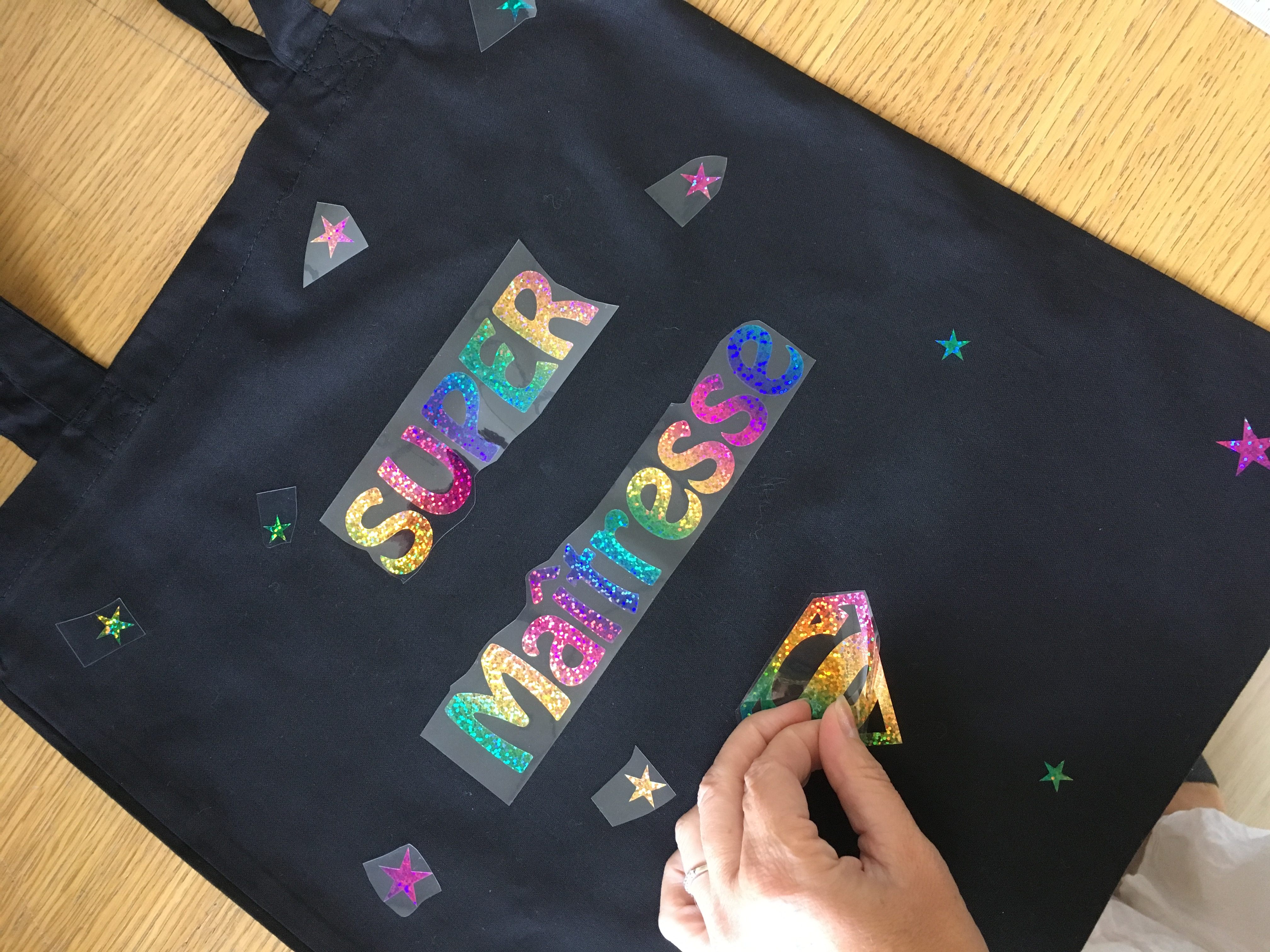 Cadeau maitresse - école - sac école - s