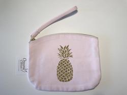 Trousse rose personnalisée - ananas doré paillettes - orG_5094