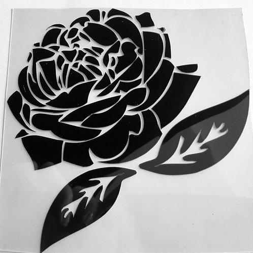 Motif thermocollant - Rose- pour textiles