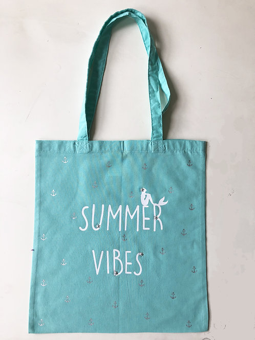 Tote-bag 'Summer Vibes Sirène'
