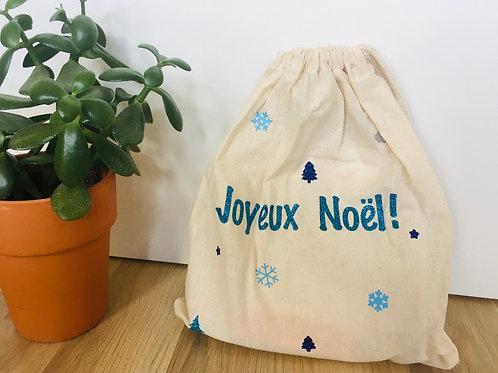 Sac de Noel en coton- Emballage durable