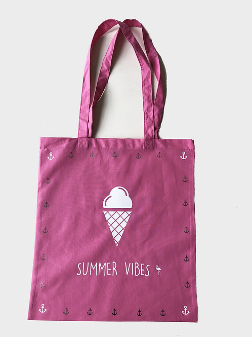 Tote-bag summer vibes ice cream