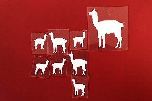 Lot de 8 lamas thermocollants pour textiles