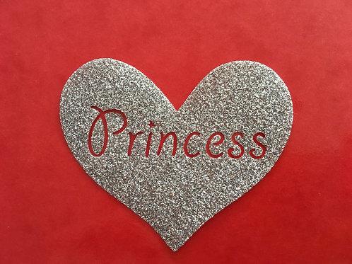 Coeur princesse thermocollant pour textiles