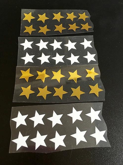 Lot 40 étoiles thermocollantes pour textiles