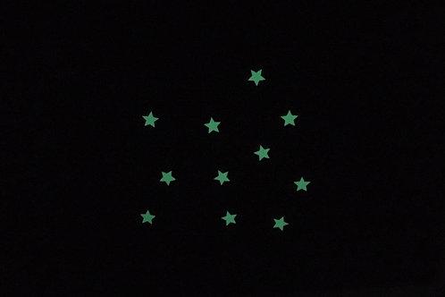 Etoiles phosphorescentes thermocollantes pour textiles