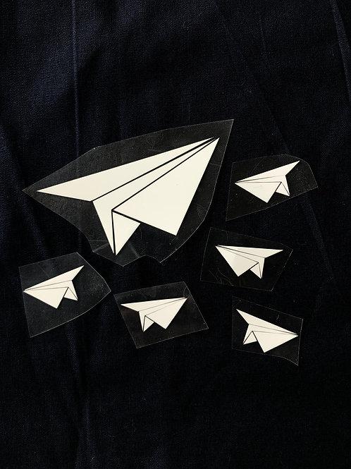 Avions origami thermocollants pour textile
