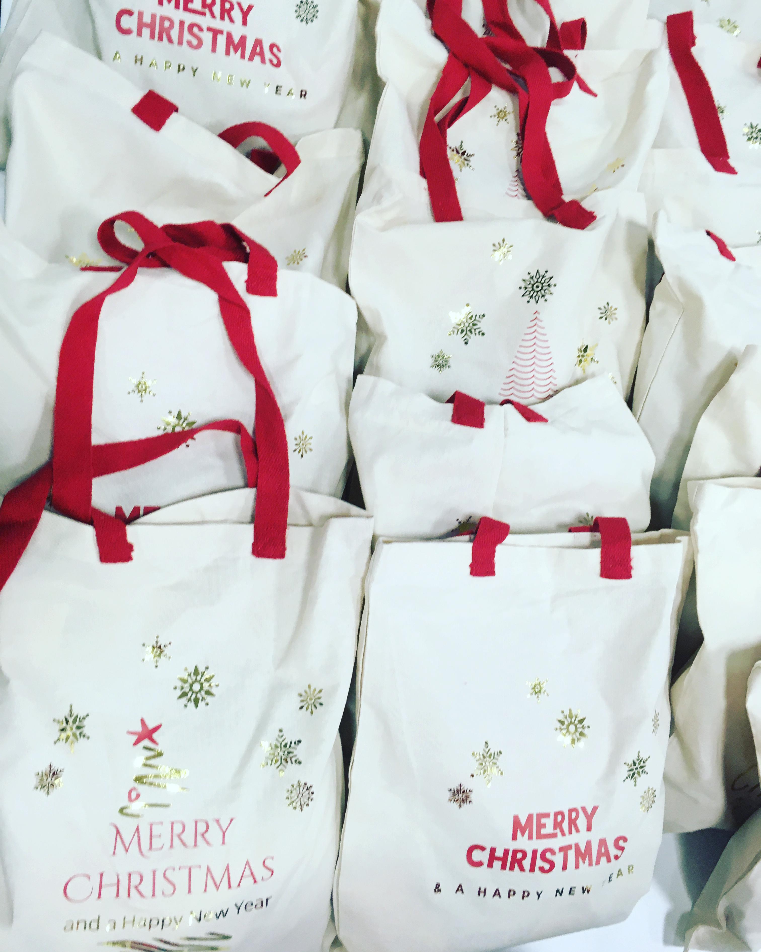 Cadeau entreprise- sac de noel - sac cot