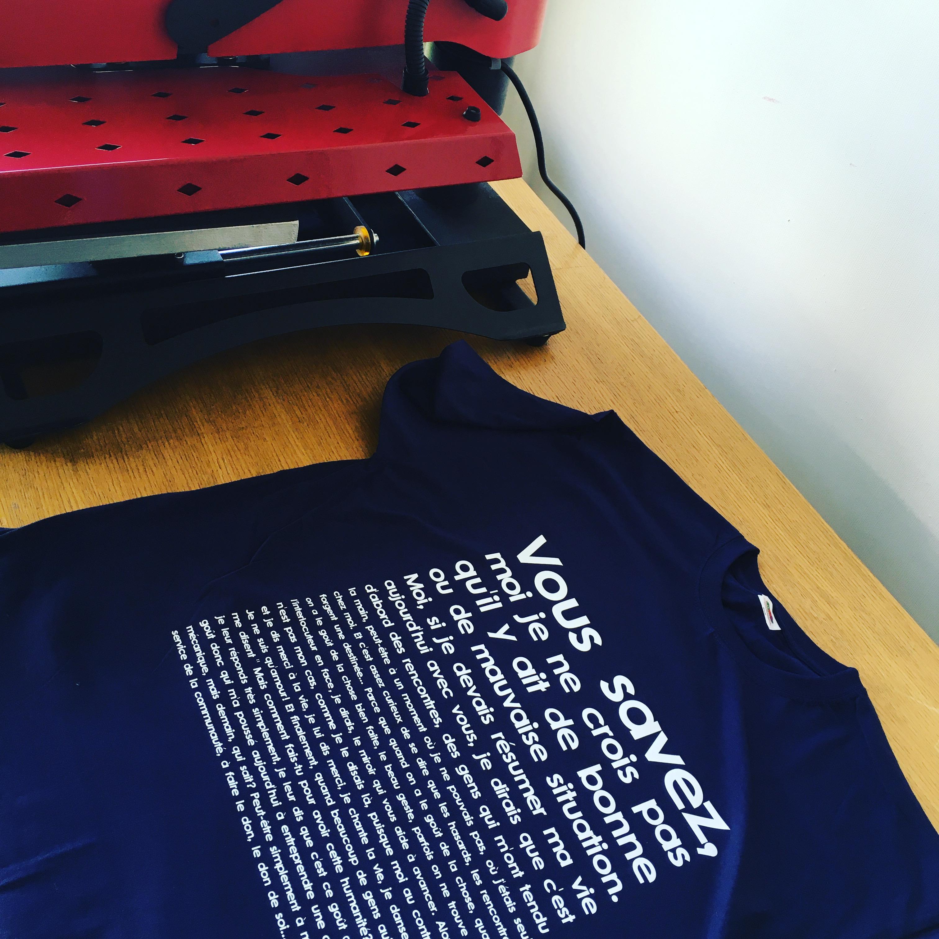 Tee-shirt personnalisé citation cinéma