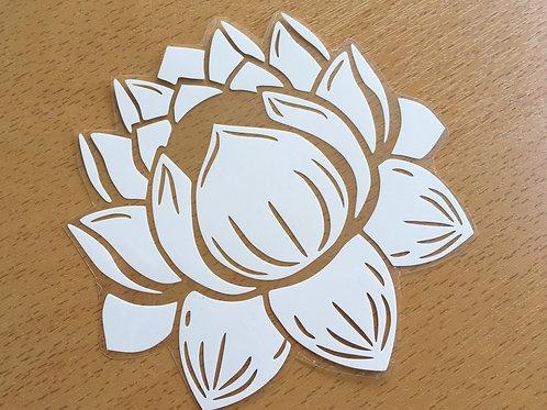 Fleur de lotus thermocollant pour textile- Blanc basic