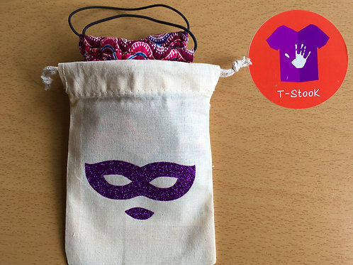 Pochette coton pour masque