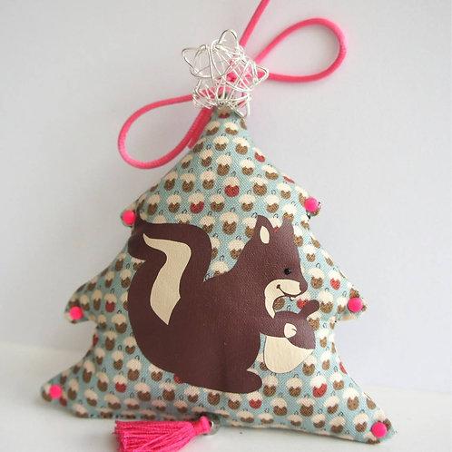 """Suspension /décoration de Noël, thème """"écureuil"""""""