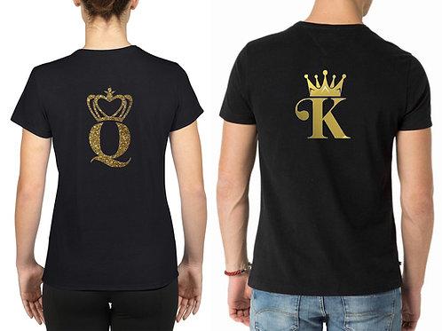 Tee-shirt duo Queen & King