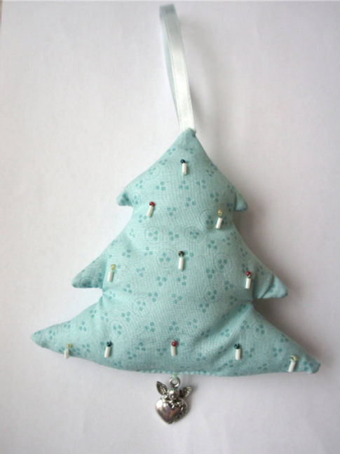 Décoration /suspension de Noël hand-made - Sapin