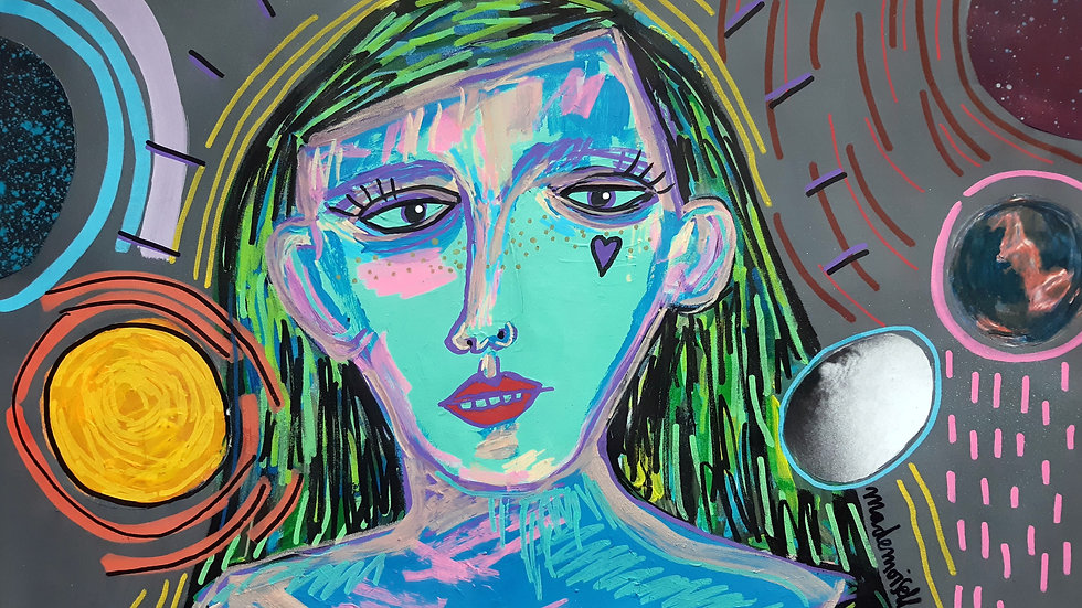 Woman on Moon Phase