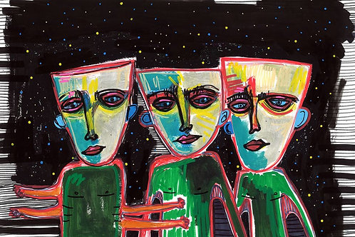 Cosmic African Masks