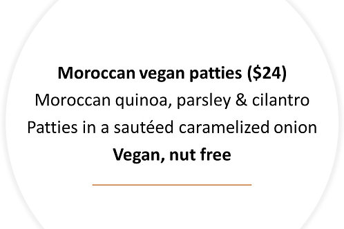Moroccan vegan patties