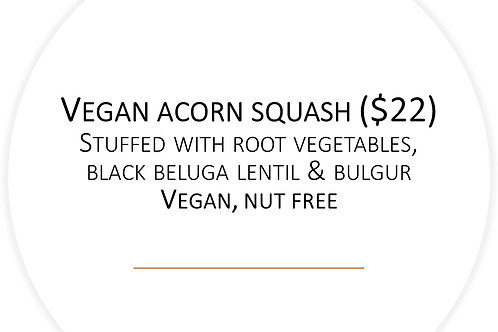 vegan stuffed acorn