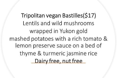 Tripolitan vegan Bastilles